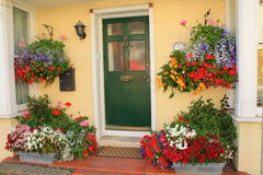 Beautiful decorated house entrance Royalty Free Stock Photography
