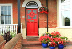 Beautiful decorated house entrance Stock Images