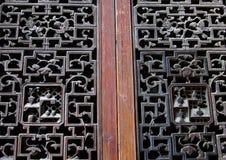 Beautiful handicrafted windows in Hongcun (Hong Cun), China Royalty Free Stock Images