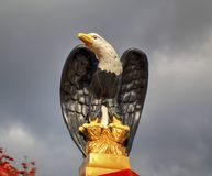 Beautiful decoration with eagle sculpture. Closeup Stock Images