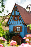 Beautiful decoration elements of alsace streets Stock Image