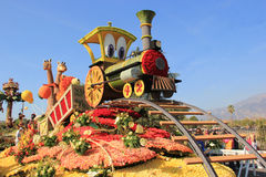Beautiful Decoration of Floats in Post Parade of Tournament of R Royalty Free Stock Photography