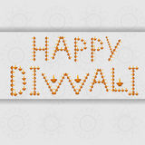 Beautiful decoration Happy Diwali diya text celebration Stock Photography