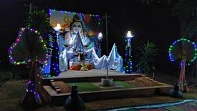 Beautiful decoration for maha shivaratri festival by little children Royalty Free Stock Photos