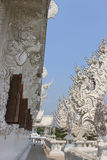 Beautiful Decoration at Rongkhun Temple (White Temple), a famous. Temple in Chiangrai, Thailand Stock Images