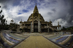 Beautiful decoration temple in wide angle Stock Image