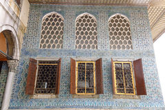 Beautiful decoration on the Topkapi Palace, Istanbul, Turkey. stock images