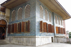 Beautiful decoration on the Topkapi Palace, Istanbul, Turkey. royalty free stock photos