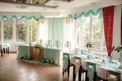 Beautiful decoration for wedding ceremony eve Stock Image