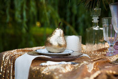 Beautiful decoration on wedding table Stock Image