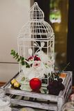 Beautiful decoration for wedding table on the Royalty Free Stock Image