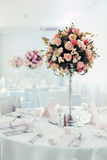 Beautiful decoration on wedding table Stock Photos