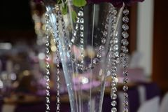 Beautiful decorations made of artificial glass crystals. Beautiful decorations from artificial glass crystals stock photos