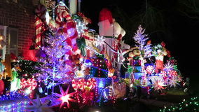 Beautiful Decorations at a Virginia Home stock footage