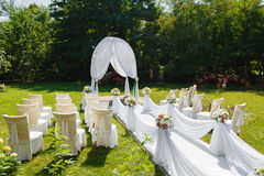 Beautiful decorations for Wedding ceremony Royalty Free Stock Photo
