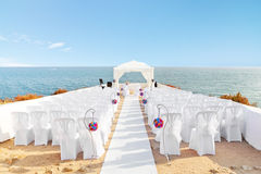 Beautiful decorations for the wedding ceremony. Royalty Free Stock Photo