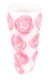 Vase. Beautiful decorativ vase for flowers isolated on white background Stock Image