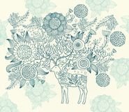 Beautiful Decorative Deer Royalty Free Stock Photography