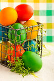 Beautiful decorative easter eggs Royalty Free Stock Images