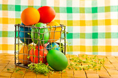 Beautiful decorative easter eggs Stock Photo