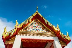 Beautiful decorative elements temple architecture in Bangkok, Th. Ailand Royalty Free Stock Images