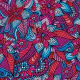 Beautiful decorative floral ornamental seamless pattern Royalty Free Stock Photo