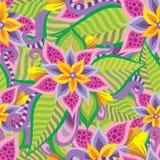 Beautiful decorative floral ornamental seamless pattern Royalty Free Stock Photos