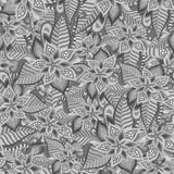 Beautiful decorative floral ornamental seamless pattern Royalty Free Stock Photo
