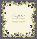 Beautiful decorative framework with a flower. Illustration Stock Image