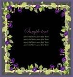 Beautiful decorative framework with a flower. Illustration Stock Photos