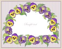 Beautiful decorative framework with flowers. Greet Stock Photo