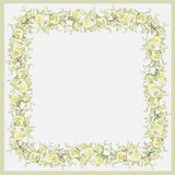 Beautiful decorative framework with flowers. Greet. Ing card with rose Royalty Free Stock Image