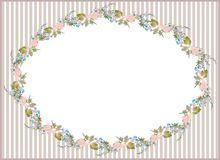Beautiful decorative framework with flowers. Greet Royalty Free Stock Photos