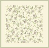 Beautiful decorative framework with flowers. Greet. Ing card with rose Stock Photos