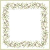Beautiful decorative framework with flowers. Greet Royalty Free Stock Images