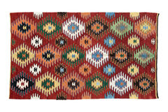 Beautiful, decorative handmade antique rugs Royalty Free Stock Photography