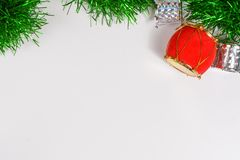 Beautiful decorative indoor with Christmas ornamentation. Beautiful background decorative indoor with colorful Christmas ornamentation, with bright stock photography