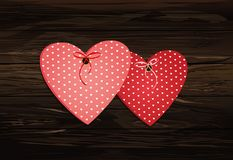 Beautiful decorative pink heart made of paper with flight and bo Stock Image