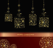 Beautiful decorative shiny Xmas balls Royalty Free Stock Images