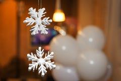 Beautiful decorative snowflakes of styrofoam Stock Image