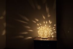 Beautiful decorative table lamp Royalty Free Stock Images