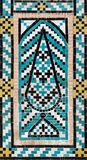 Beautiful decorative turquoise blue tiled mosaic with tree motif, Iran. Beautiful decorative turquoise blue tiled mosaic with tree motif, Shah Nematollah Vali stock images