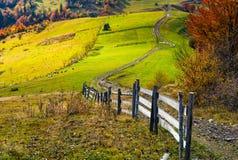 Beautiful deep autumn countryside scene Stock Photo