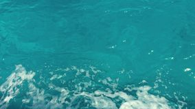 Beautiful deep blue Mediterranean Sea water. Ocean waves. Cruise ship vacation in Europe. Environmental and nature with. Deep blue sea. Reflection of sky and stock video