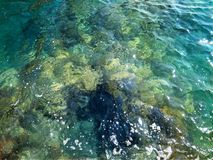 Beautiful deep clean and clear sea water royalty free stock photography