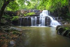 Beautiful Deep forest waterfall call Pangsida waterfall Royalty Free Stock Photo