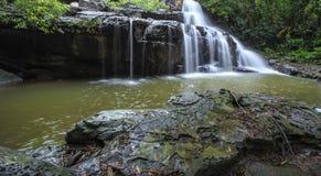 Beautiful Deep forest waterfall call Pangsida waterfall Stock Photos