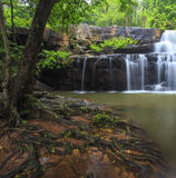 Beautiful Deep forest waterfall call Pangsida waterfall Stock Photography