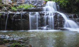 Beautiful Deep forest waterfall call Pangsida waterfall Stock Photo