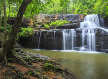 Beautiful Deep forest waterfall call Pangsida waterfall Stock Photos